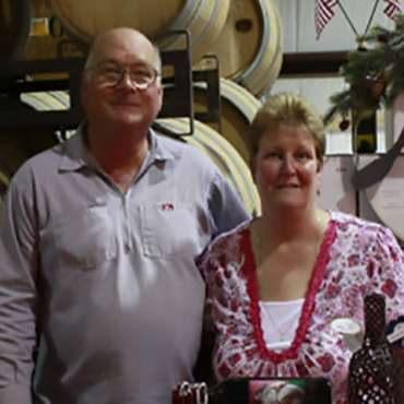 Indian Peak Vineyards Owners Fred and Donna Boots of Manton, CA 96059.